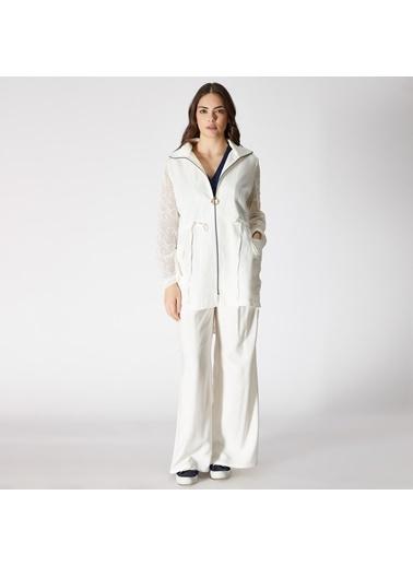 Vekem-Limited Edition Trençkot Beyaz